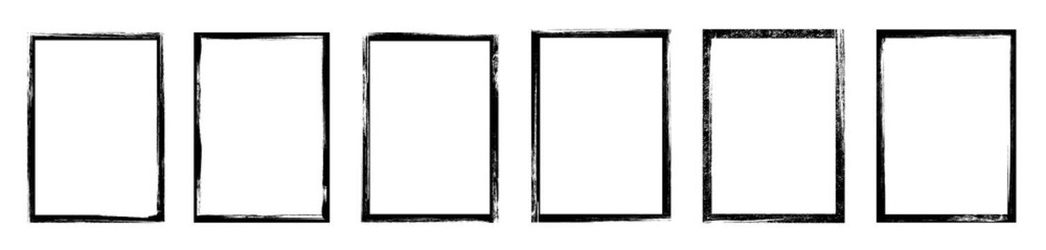 Grunge frame - stock vector.