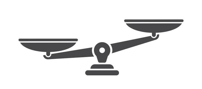 Scales. Libra icon. Flat style - stock vector.