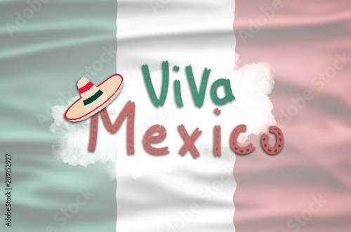 Mexican National Holiday Mexican Flag Background With