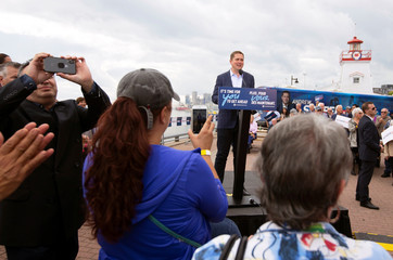 Conservative Party leader Andrew Scheer launches his election campaign in Trois-Rivieres
