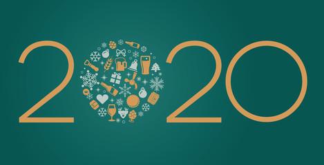 Weihnachtskarte 2020 Bier