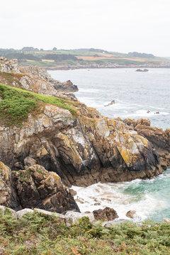 Côte bretonne à Beuzec Cap Sizun