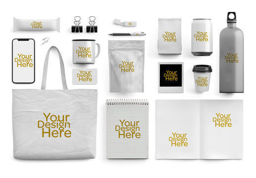 Business Collateral Merchandise Mockup Set