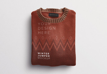 Winter Jumper Mockup