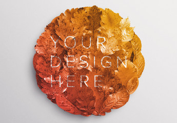 Autumn Foliage Circle Mockup