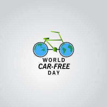 World Car Free Day Vector Template Design Illustration
