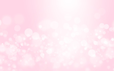 Bokeh abstract blurred pink and white beautiful background. Soft color light glitter sparkles. element for backdrop or design cosmetic ads, romantic, valentine day, women, beauty, love, christmas
