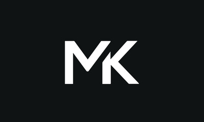 MK or KM and K or M abstract letter mark monogram logo vector template