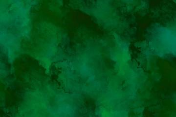 Wallpaper green watercolor art/ dunkel grünes Wasserfarben Bild