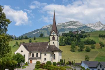The church of Sankt Jakob on Switzerland