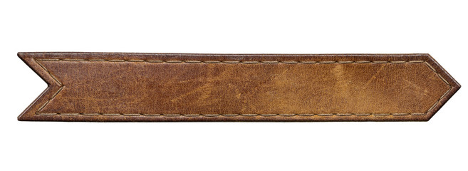 Jeans label leather tag