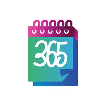 calendar 365 infinity logo icon design illustration vector
