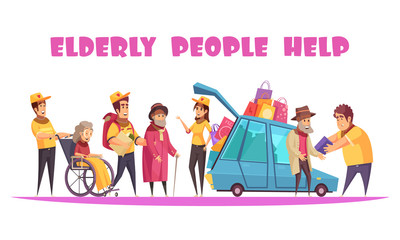 Help Elderly People Banner