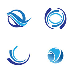 wave business logo vector image