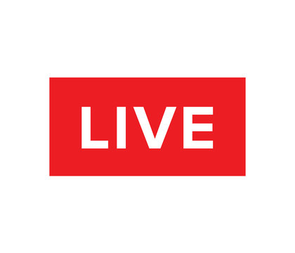 Live Stream sign, emblem, logo. Vector Illustration. Social media icon live streaming.