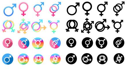 gender vector set clipart design