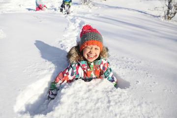 kids in winter time