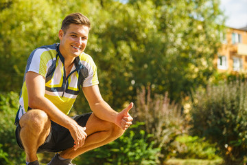 Young sporty man outdoor
