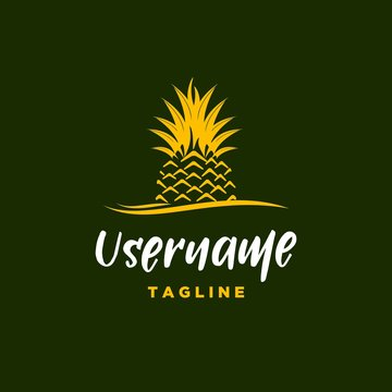 pineapple logo design inspiration . hipster pineapple logo template