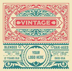 Vintage liquor label template. Vector layered