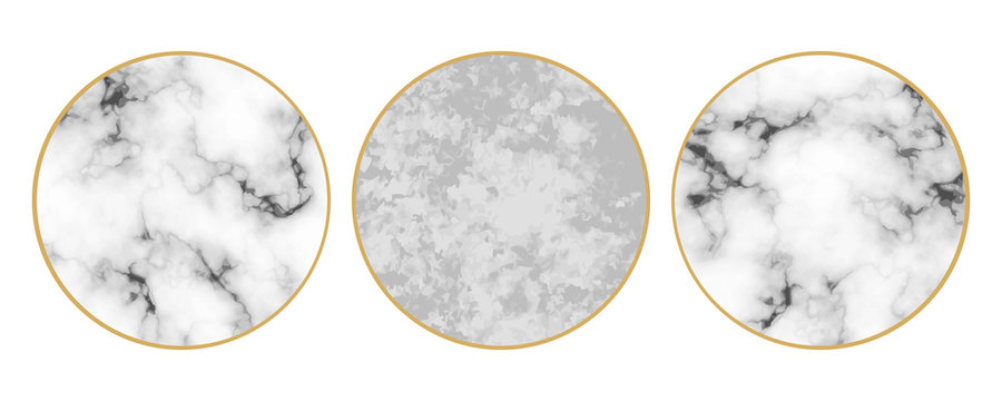 Vector set with highlight cover backgrounds. Set of marble and stone design templates for icons, text or personal design