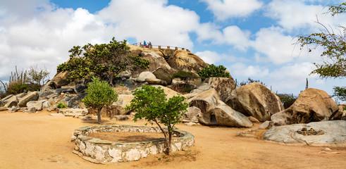 Casibari-Felsformationen auf der Insel Aruba, Panorama