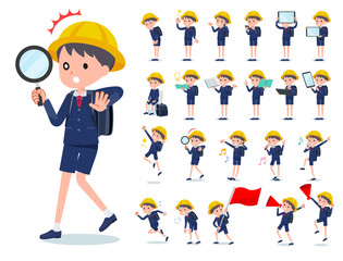 flat type primary school boy_Action