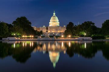 Washington DC, United States Capitol Building at night, USA. Wall mural