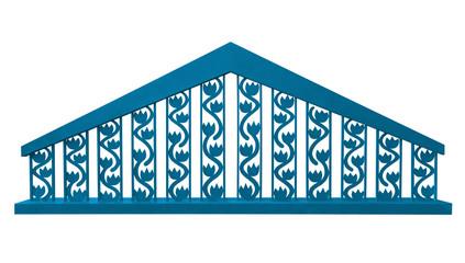 Decorative fence - light blue