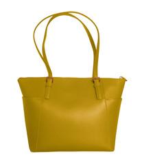 Luxury leather handbag - yellow