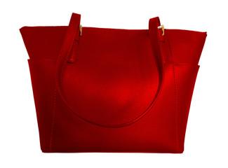Luxury leather handbag - red