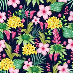 Beautiful vintage floral seamless pattern