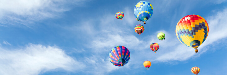 Wall Murals Balloon Colorful hot air balloons in the sky