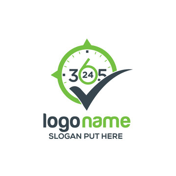 Active 365 day 24 hours logo/identity design template
