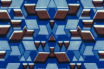 Geometric pattern of an African fabric