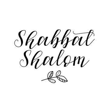 Shabbat Shalom. Jewish holiday. Lettering. vector. element for flyers, banner and posters Modern calligraphy.