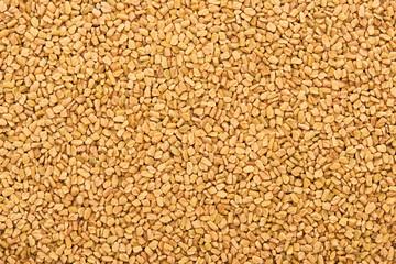 top view of uncooked organic bulgur grains