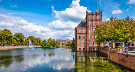 Fotomurales - The Hague, The Netherlands, Holland. Pond in city centre.