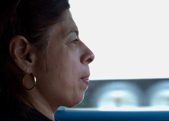Latino women focused