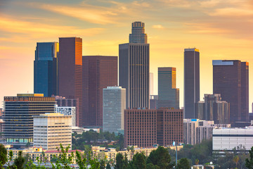 Los Angeles, California, USA downtown skyline