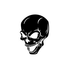 Skull crossbone vector pirate icon logo Halloween ghost
