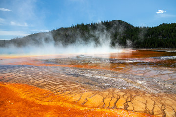 Grand Prismatic Spring in Yellowstone National Park, Wyoming, USA