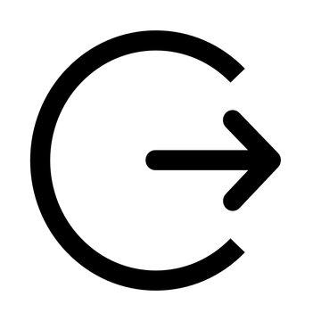 circle logout icon vectors
