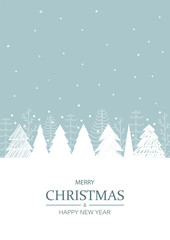 Christmas winter background. Vector illustration.