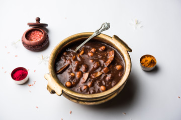 ambrosia or Panchamrit or Panchamrut or Panchamrutham or Panchamrutha is a sweet and sour food offered in prayers or puja to hindu Deity or gods Wall mural