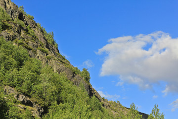 Clouds above mountains in beautiful Hemsedal, Buskerud, Norway.