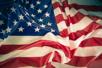 Closeup american flag background