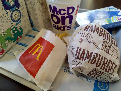 menu Happy meal de McDonald's
