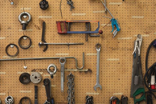 Tools in a factory workshop