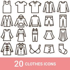 商品アイコン ファッション ライン 20セット